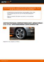Πώς να αλλάξετε μπροστινός κάτω βραχίονας σε Audi A4 B8 - Οδηγίες αντικατάστασης