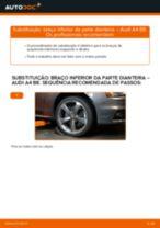 Como mudar braço inferior da parte dianteira em Audi A4 B8 - guia de substituição