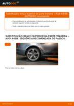 Como mudar braço superior da parte traseira em Audi A4 B8 - guia de substituição
