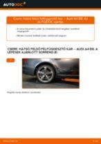 Hátsó felső felfüggesztő kar-csere Audi A4 B8 gépkocsin – Útmutató