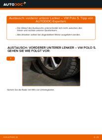 Wie der Wechsel durchführt wird: Querlenker 1.6 TDI VW Polo 5 Limousine tauschen