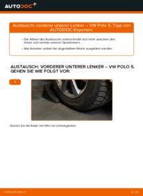 Wie der Ersatz vollführt wird: Querlenker am VW POLO