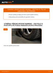 Jak provést výměnu: Rameno Zavesenia Kolies na 1.6 TDI VW Polo 5 Sedan