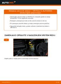 Kako izvesti menjavo: Zavorni kolut na 1.6 TDI VW Polo 5 Sedan
