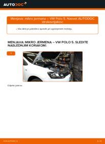 Kako izvesti menjavo: Rebrasti jermen na 1.6 TDI VW Polo 5 Sedan