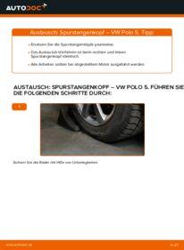 Wie der Wechsel durchführt wird: Spurstangenkopf 1.6 TDI VW Polo 5 Limousine tauschen