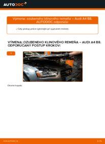 Ako vykonať výmenu: Klinový rebrovaný remen na 2.0 TDI Audi A4 B8 Sedan