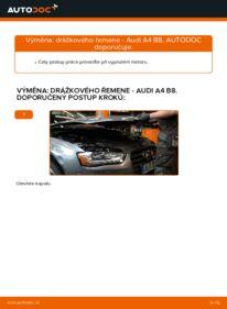 Jak provést výměnu: Klinovy zebrovany remen na 2.0 TDI Audi A4 B8 Sedan