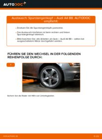 Wie der Wechsel durchführt wird: Spurstangenkopf 2.0 TDI Audi A4 B8 Limousine tauschen