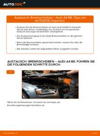 Wie der Wechsel ausgeführt wird: Bremsscheiben beim AUDI A4