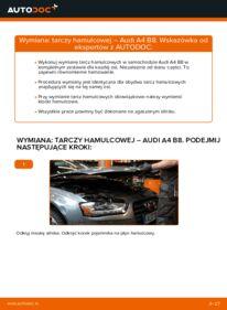 Jak przeprowadzić wymianę: Tarcza hamulcowa w AUDI A4