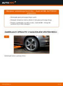 Kako izvesti menjavo: Konec jarmovega droga na 2.0 TDI Audi A4 B8 Sedan