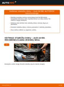 Kaip atlikti keitimą: 2.0 TDI Audi A4 B8 Sedanas Stabdžių diskas