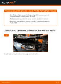Kako izvesti menjavo: Zavorne Ploščice na 2.0 TDI Audi A4 B8 Sedan