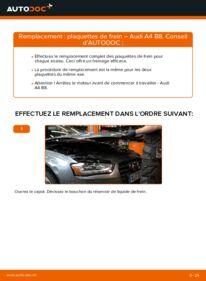Comment effectuer un remplacement de Plaquettes de Frein sur 2.0 TDI Audi A4 B8 Berline
