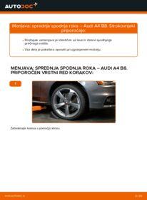 Kako izvesti menjavo: Roka na 2.0 TDI Audi A4 B8 Sedan