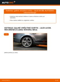 Kaip atlikti keitimą: 2.0 TDI Audi A4 B8 Sedanas Vikšro Valdymo Svirtis