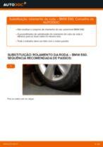 Como mudar rolamento da roda da parte dianteira em BMW E60 - guia de substituição