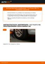 Πώς να αλλάξετε ακρόμπαρο σε Fiat Punto 199 - Οδηγίες αντικατάστασης