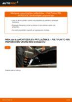 Kako zamenjati avtodel amortizer prtljažnih vrat na avtu Fiat Punto 199 – vodnik menjave