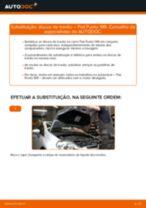 Como mudar discos de travão da parte dianteira em Fiat Punto 199 - guia de substituição