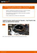 Como mudar pastilhas de travão da parte dianteira em Fiat Punto 199 - guia de substituição