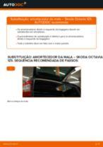 Como mudar amortecedor da mala em Skoda Octavia 1Z5 - guia de substituição