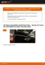 Automechanikų rekomendacijos SKODA Octavia 1z5 1.6 TDI Stabdžių apkaba keitimui
