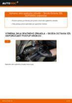 Ako vymeniť sklo spätného zrkadla na Skoda Octavia 1Z5 – návod na výmenu