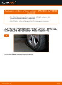 Wie der Wechsel durchführt wird: Querlenker 530d 3.0 BMW E60 tauschen