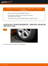 Wie der Austausch bewerkstelligt wird: Spurstangenkopf beim 530d 3.0 BMW E60