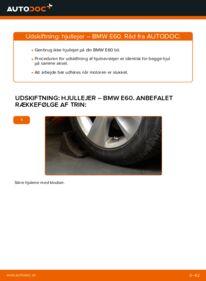 Hvordan man udfører udskiftning af: Hjulleje på 530d 3.0 BMW E60