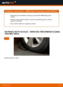 Kaip atlikti keitimą: 530d 3.0 BMW E60 Rato guolis