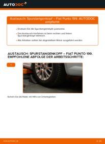 Wie der Wechsel durchführt wird: Spurstangenkopf Fiat Punto 199 1.3 D Multijet 1.4 1.2 tauschen