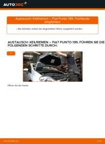 Wie der Wechsel durchführt wird: Keilrippenriemen 1.3 D Multijet Fiat Punto 199 tauschen