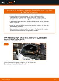 Wie der Wechsel durchführt wird: Bremsscheiben 1.3 D Multijet Fiat Punto 199 tauschen