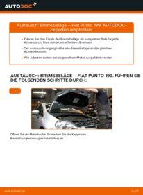 Wie der Wechsel durchführt wird: Bremsbeläge 1.3 D Multijet Fiat Punto 199 tauschen