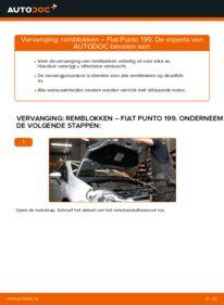Vervanging uitvoeren: Remblokken 1.3 D Multijet Fiat Punto 199