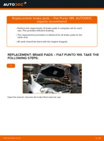 How to carry out replacement: Brake Pads on 1.3 D Multijet Fiat Punto 199