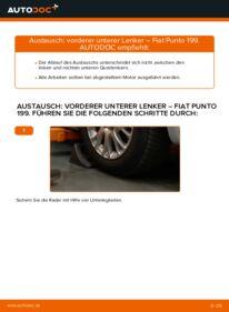 Wie der Wechsel durchführt wird: Querlenker 1.3 D Multijet Fiat Punto 199 tauschen