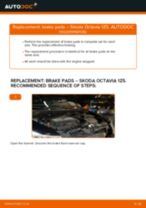 Changing Brake Pads SKODA OCTAVIA: workshop manual