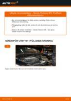 Byta Bromsklotsar bak och fram SKODA OCTAVIA: online guide