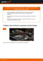 Ako vymeniť zadné brzdové platničky na Skoda Octavia 1Z5 – návod na výmenu