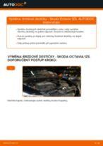 Jak vyměnit přední brzdové destičky na Skoda Octavia 1Z5 – návod k výměně