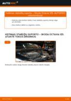 Kaip pakeisti gale ir priekyje Stabdžių Kaladėlės SKODA OCTAVIA Combi (1Z5) - instrukcijos internetinės