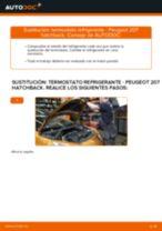 Cómo cambiar: termostato refrigerante - Peugeot 207 hatchback | Guía de sustitución