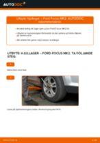 bak och fram Hjullager FORD Focus II Sedan (DB_, FCH, DH) | PDF instruktioner för utbyte