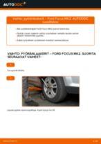 Kuinka vaihtaa pyöränlaakerit eteen Ford Focus MK2-autoon – vaihto-ohje