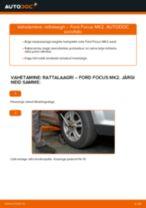 Kuidas vahetada Ford Focus MK2 esi-rattalaagri – õpetus