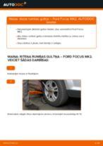 Kā nomainīt: priekšas riteņa rumbas gultņa Ford Focus MK2 - nomaiņas ceļvedis